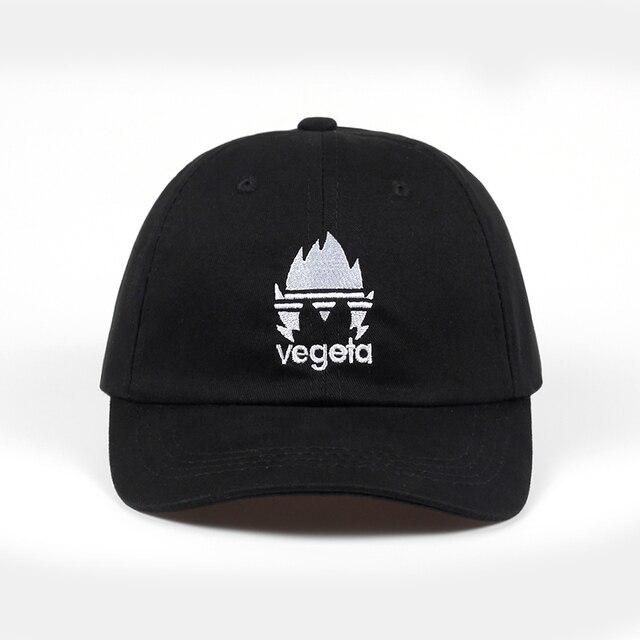 0a7eed66ff9 100% Cotton Embroidery vegeta Dad Hat Bone Baseball Cap Casquette Hat  Snapback Caps For Men