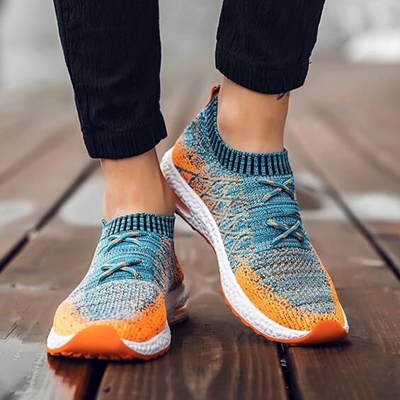 2018 Heißer Verkauf Männer Der Vulkanisieren Schuhe Solide Lace-up Atmungsaktive Mode Frühjahr/herbst Air Mesh Freizeit Schuhe Männlichen Trainer Turnschuhe