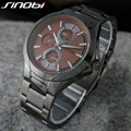 Montre Homme 2016 Mens Watches Top Brand Luxury Anolog Display Stainless Steel Watch Men Quartz-Watch Sinobi Watch