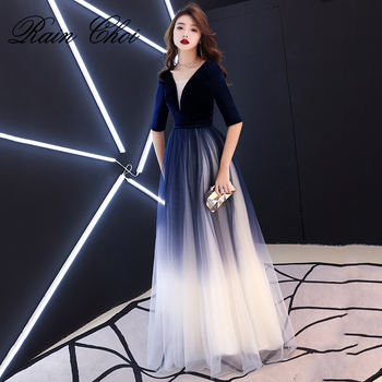 Evening Gown 2020 V Neck Wedding Party Prom Dresses Sexy Long Formal Evening Dress