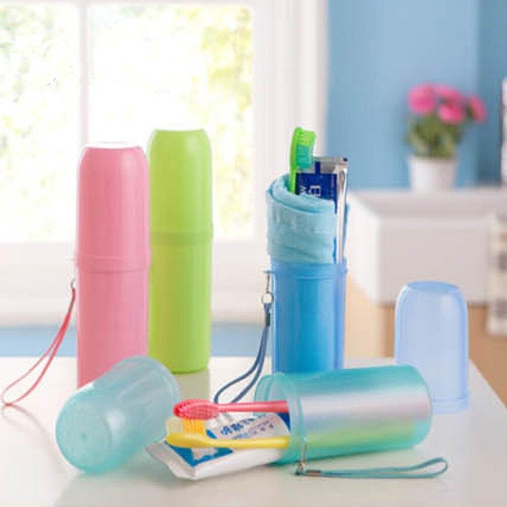Хорошее качество путешествия Портативный Зубная щётка коробка для хранения Высокое качество одноцветное Цвет зубная Паста Контейнер моды ...
