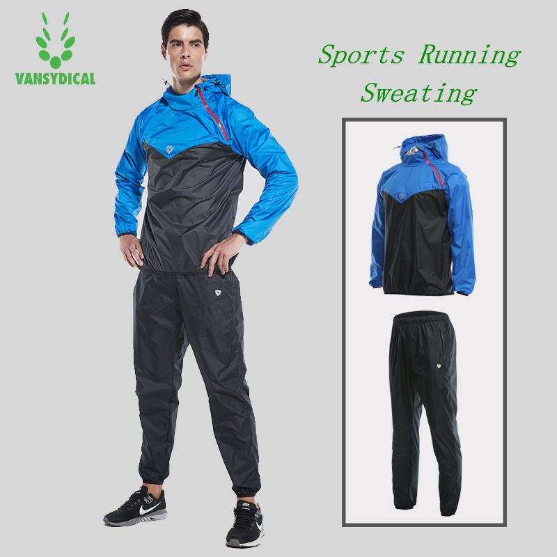 Vansydical Gym Jogging Sports Suits Men s Fitness Running Sets Weight Loss Training Clothes Quick Sweating