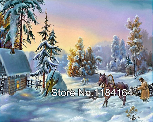5d diy diamond painting cross stitch diamond embroidery landscape winter scenery pattern diamond mosaic BK 535