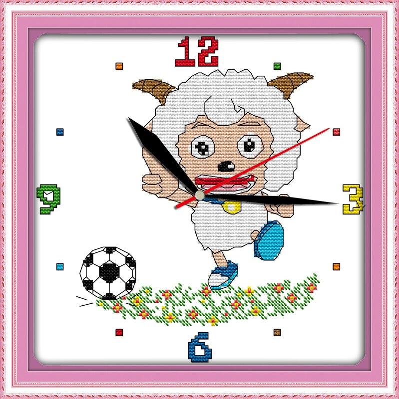 Вышивка часы ребенку