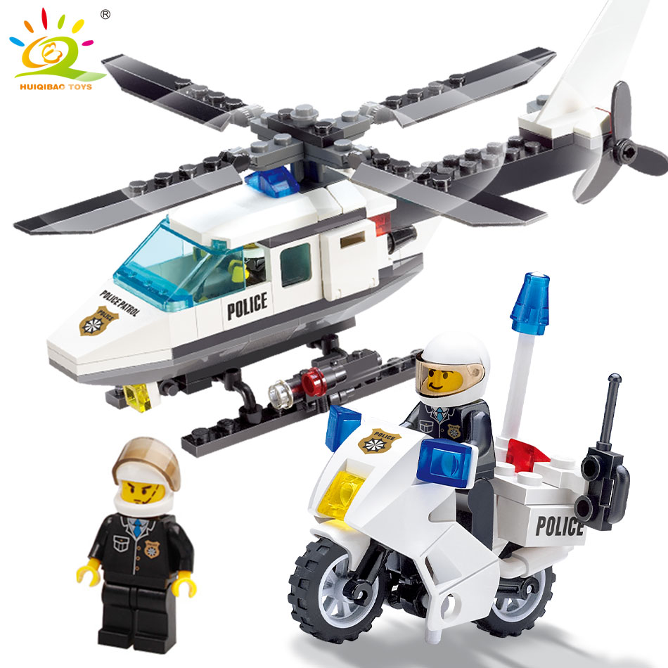 Air Force plane DIY Bricks Compatible legoed Police city Helicopter motorcycle Building Blocks Boy s Toys