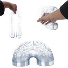 New Funny Gadgets Stress Relieve Magic Tricks Slinky Metal Rainbow Spring Toy Gift