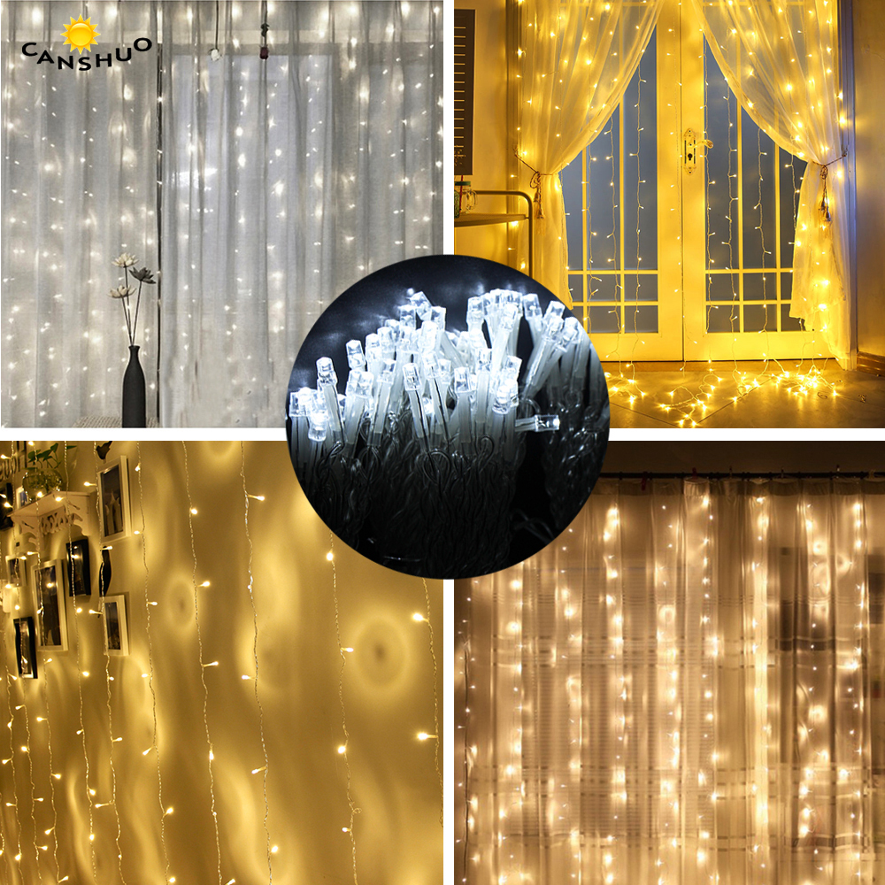 3x1/3x2/3x3/6x3m Icicle Led Curtain String Fairy Lights Xmas Christmas Wedding Holiday Lighting Party Garland Decor Outdoor 4 5m icicle string lights outdoor holiday christmas decorative wedding xmas fairy lights for curtain garland strip party light