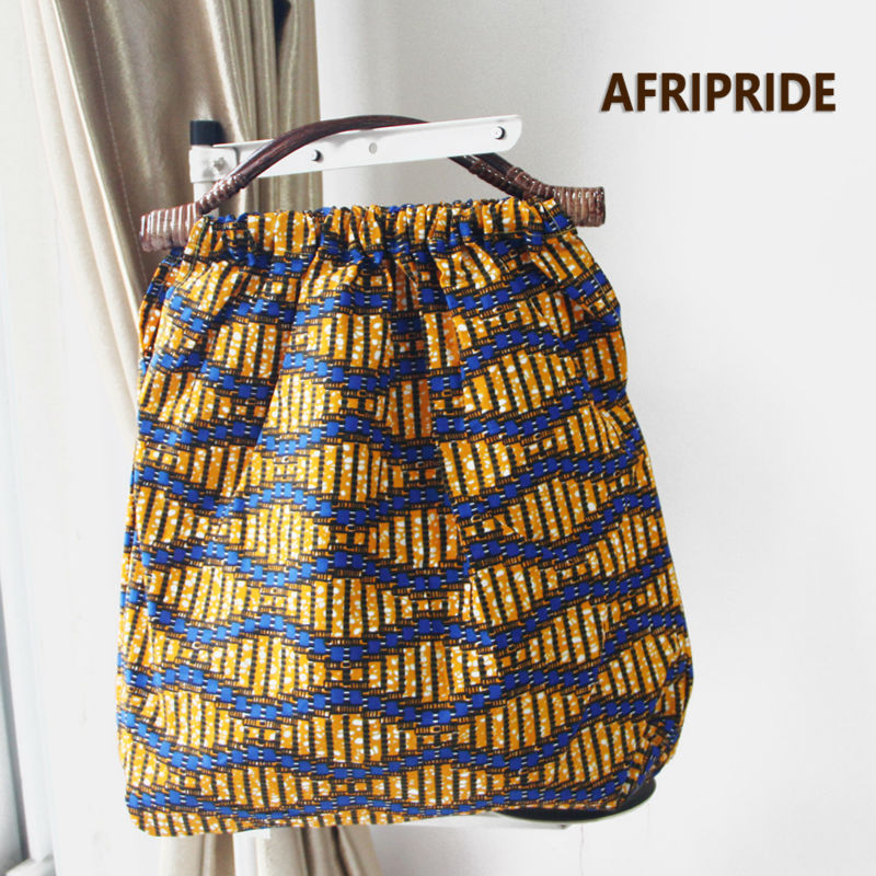 2019 New Fashion Women  Handbag  African Women Luggage Print Wax Cotton Private CustomA6B04