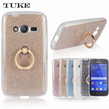 cadef4258d1 Marca Tuke caso Capa TPU para Samsung Galaxy Ace 4 Lite G313 G313H SM-G313H Ace  4 Neo SM-G318H teléfono funda Para + soporte de anillo