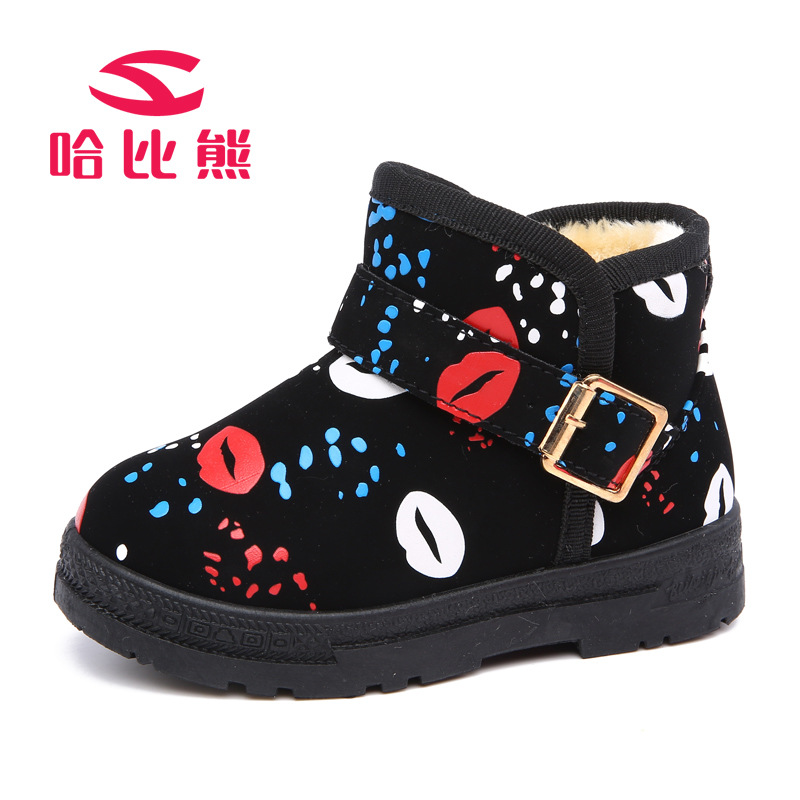 Winter Warm Children Boots PU Leather Boots Cartoon Printing Car Mouth Waterproof Kids Shoes Toddler Shoes Girls Boys Snow Boots kids shoes girls winter diamond bow toddler pu shoes children trainers baby shoes infantil princess warm shoes chaussure enfant