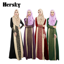 10PCS Dubai Abaya Turkish Women Muslim dress Islamic jilbab and abaya Clothing Robe musulmane dresses Loose