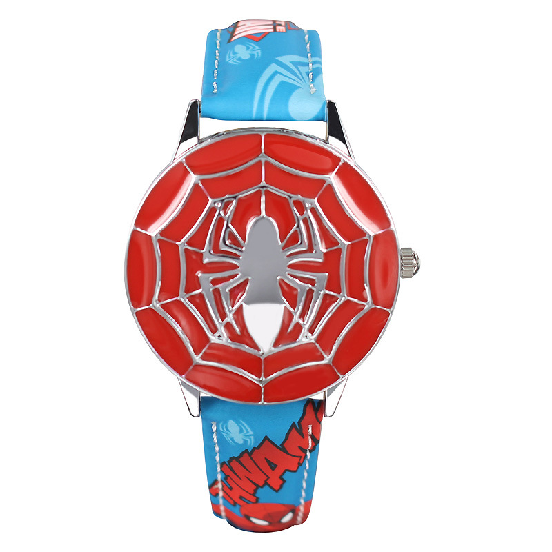 Original Disney Children wrist watches kids boys quartz Leather Cartoon student sport waterproof Captain America number