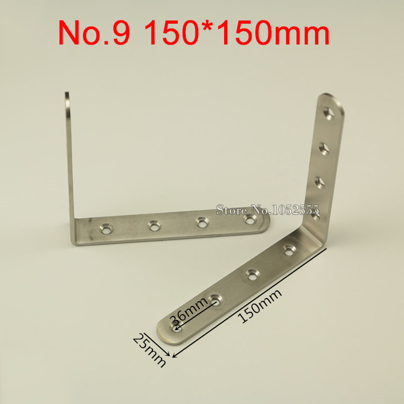 №200PCS Stainless Steel Corner Brackets 150*150mm Right Angle ...