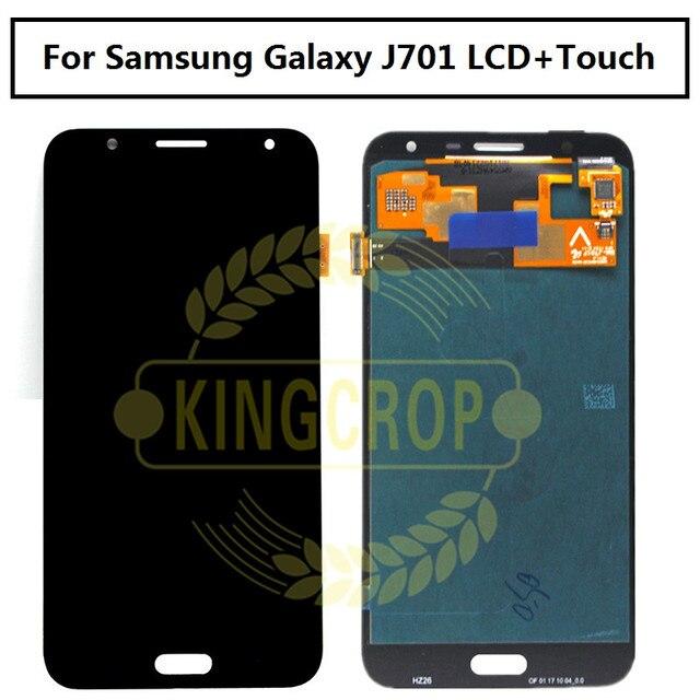 5.5 SUPER AMOLED per SAMSUNG Galaxy J7 Neo Display J701F J701M J701MT j701 LCD digitizer Assembly parti di ricambio