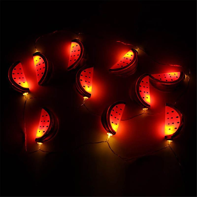 watermelon string light holiday party lights garden hanging lamp