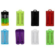 30pcs/lot MasterFire 18650 Battery Silicone Cases Protective Covers Colorful Soft Rubber Skin Bag for 2pcs Batteries Case