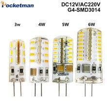 G4 LED Lamp SMD 3014 DC 12 V / AC 220V 110V 3W 5W 6W 7W Replace 30W/60W Halogen Lamp 360 Beam Angle LED Lampada Bulb 1Pcs