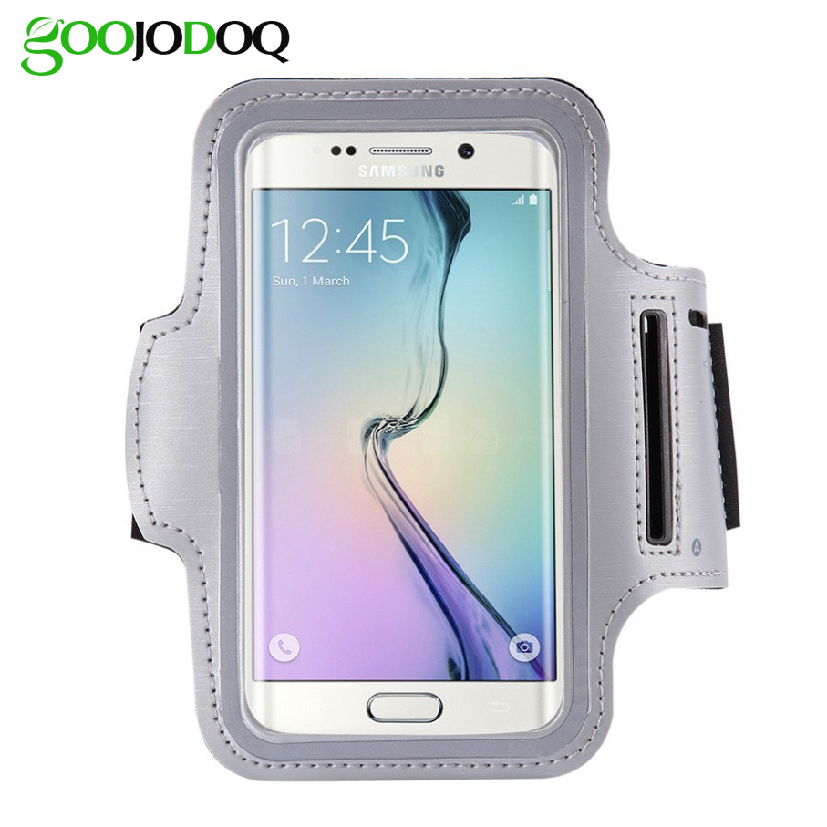 Waterproof Sport Armband For Samsung Galaxy S7 S6 S5 S4 S3 Running Jogging Mobile Phone Cover Case Bag Arm Band with Key Holder