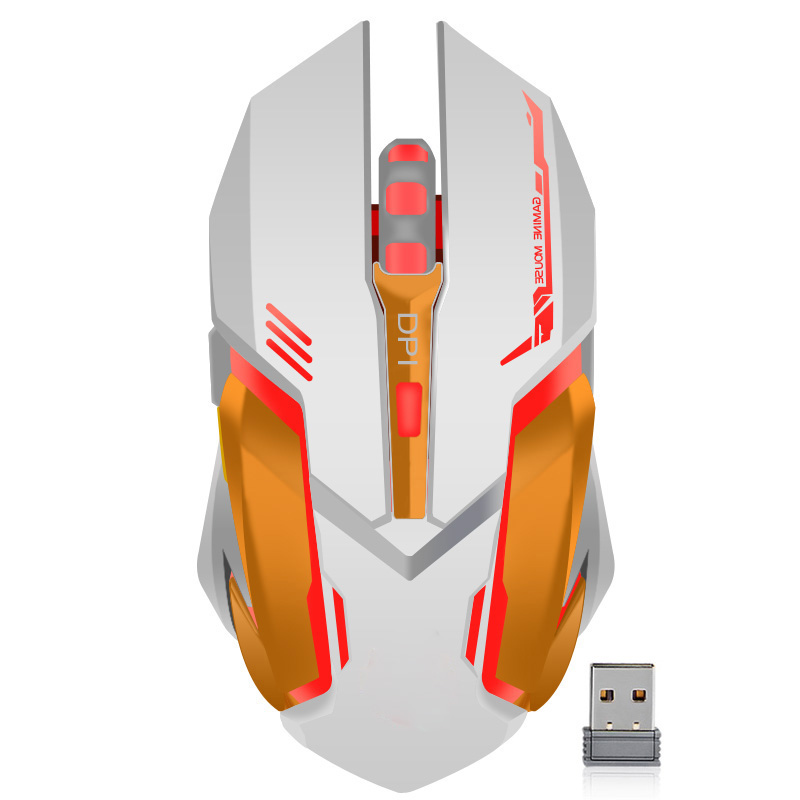 Gaming Optical Mouse USB Wireless/Wired Computer Laptop Colorful Backlit Mouse Positioning Accuracy Rechargeable Lithium Battery 1