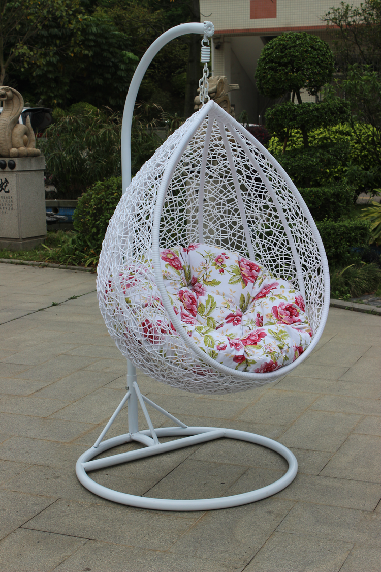 Reinforcement Rattan Baskets Indoor Outdoor Swing Hanging Chair Cushion Single Double Furniture