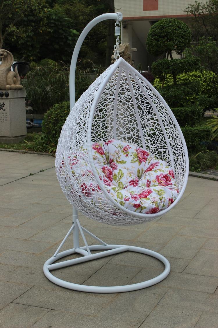 Reinforcement Rattan Baskets Indoor Outdoor Swing Hanging Chair
