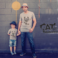 Family matching clothes 2017 summer father son matching clothes cartoon cute bear boys t shirt mother son outfits t-shirt