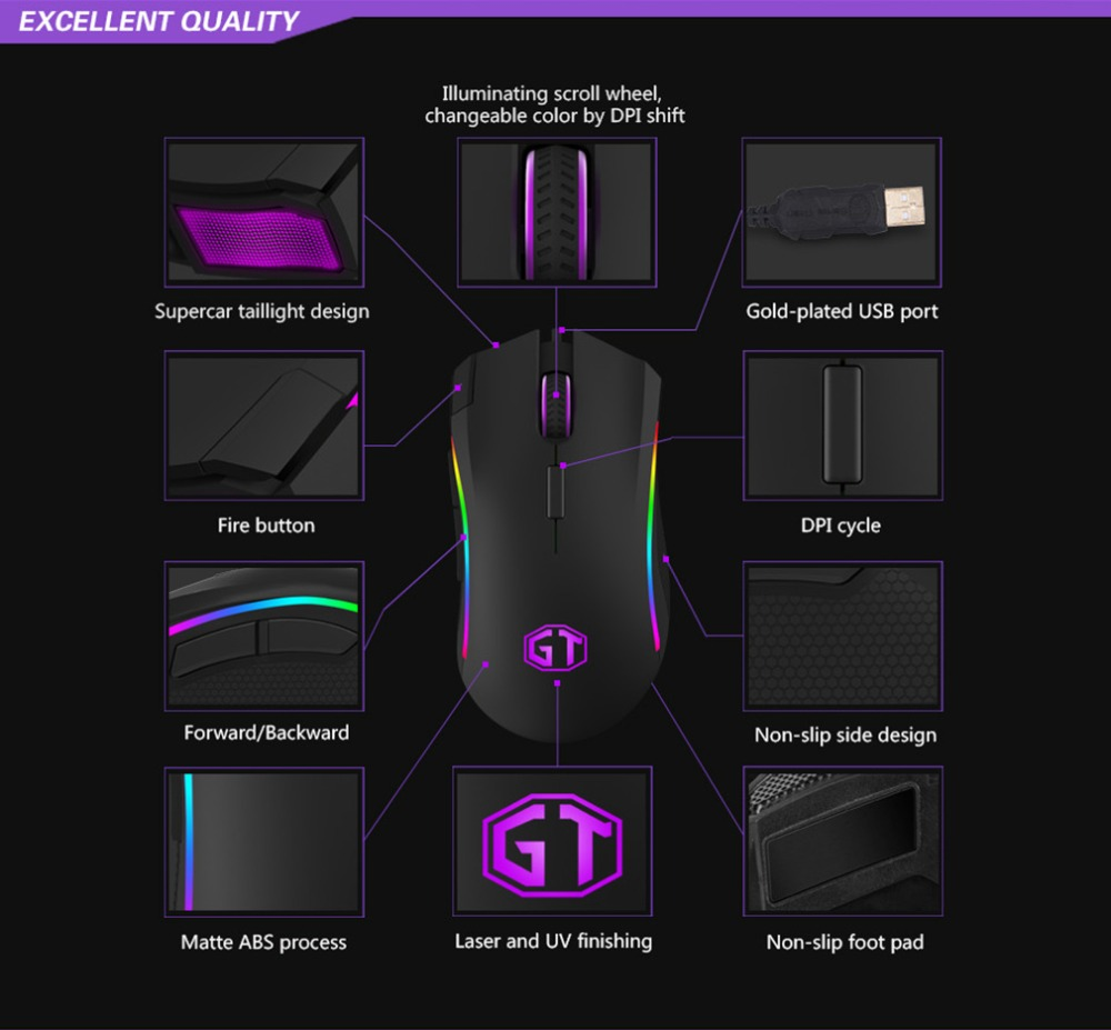 medium resolution of delux m625 gaming mouse wired 7 buttons 12000dpi optical mice rgb backlit mause for lol dota game player pc laptop desktop in mice from computer office on