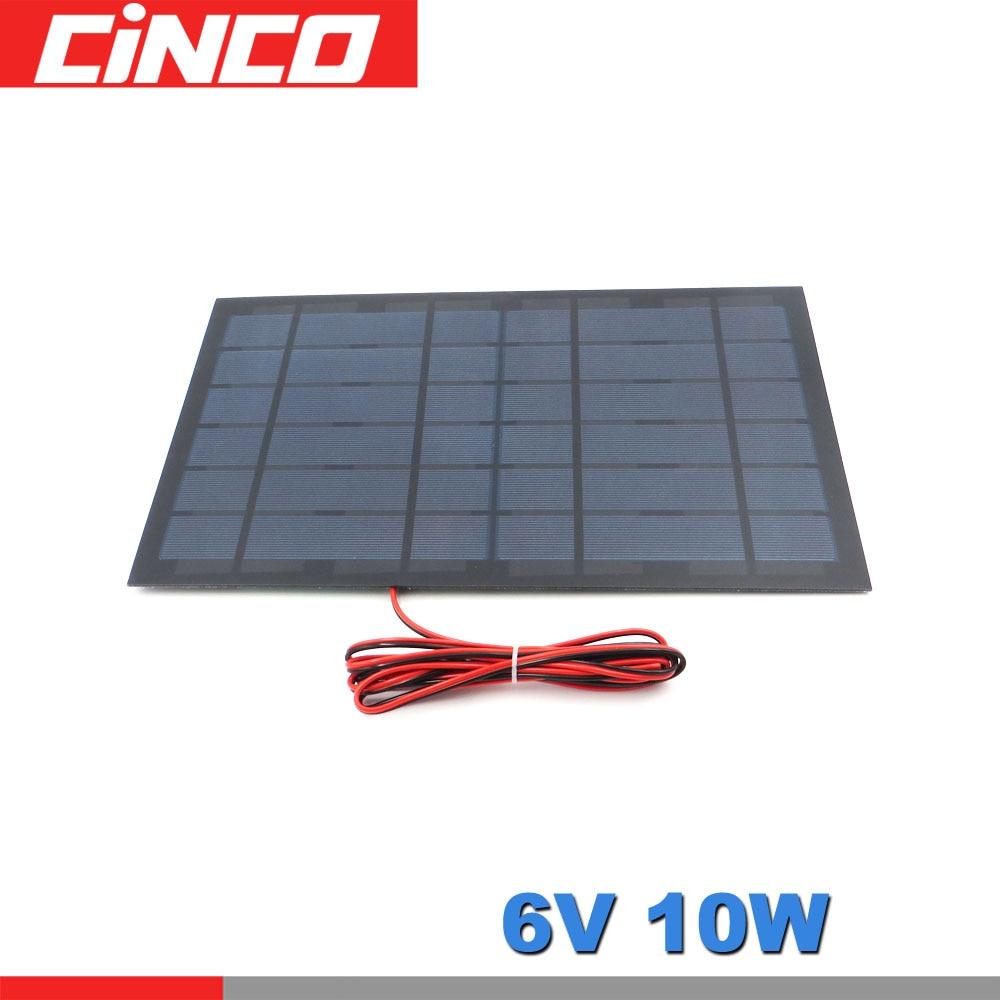 6 V 1.6A 10 W Solar Panel Tragbare DIY Modul Panel System Für Solar Lampe Batterie Spielzeug Telefon Ladegerät Solar zellen Volt 6 V Watt