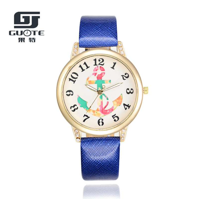 Personalized Anchor Pattern Watch Girl Fashion Watch Gift Leather Leather Strap Lady Casual Lover Watch Creative Watch Men Saat
