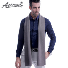 [AETRENDS] 8 Solid Colors Winter Wool Scarf Men Luxury Brand Scarves for Warm Soft Scarfs Foulard Z-6655