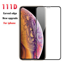 111D Curved Edge Full Cover Protective Glass For iPhone X 7 8 6 6S Plus Tempered Screen Protector For XR XS Max X Glass FilM 111d curved edge full cover protective glass for iphone x 7 8 6 6s plus tempered screen protector for xr xs max x glass film