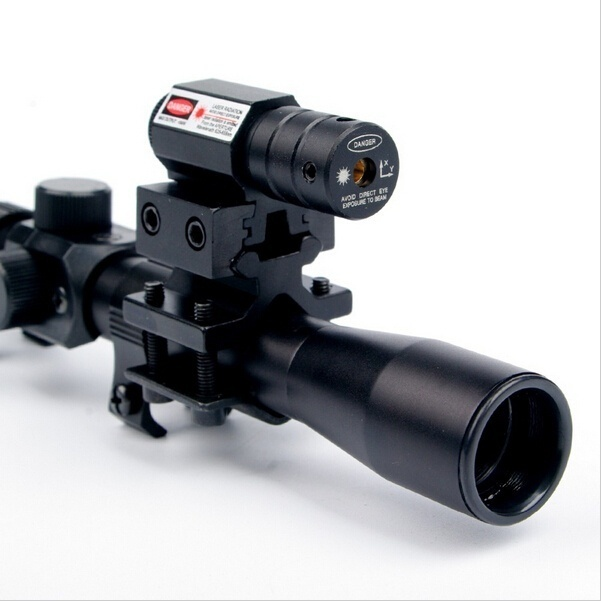 Rifle Hunting 4x20 Air Gun Rifle Optics Scope Caza Tactical Riflescope With Red Dot Laser Sight