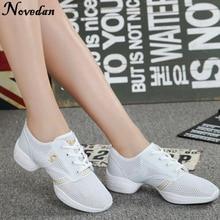 цены на Summer White Woman Sport Sneakers Shoes Womens Dance Sneakers Dance Shoes Hip Hop Jazz Sneakers For Women Girls  в интернет-магазинах