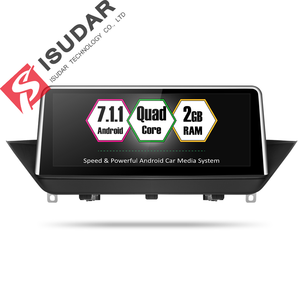 Isudar Car Multimedia player 2 din android 7.1.1 Car DVD Player 10.25 Inch For BMW/X1/E84 CIC 32GB Rom Quad Cores GPS Radio BT