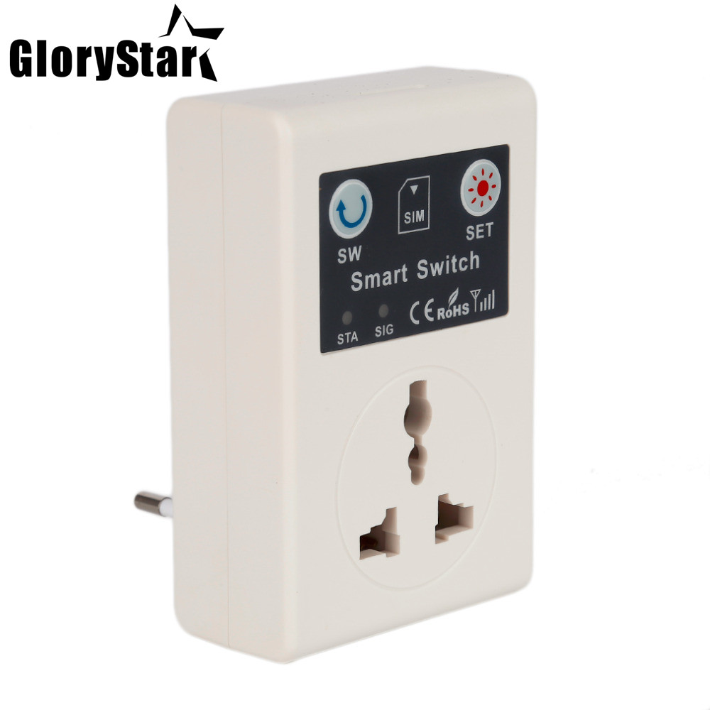 EU 220V Gsm Power Socket Plug Phone RC Remote Wireless Control Smart Switch Socket With USBGSM Plug for Home Household Appliance