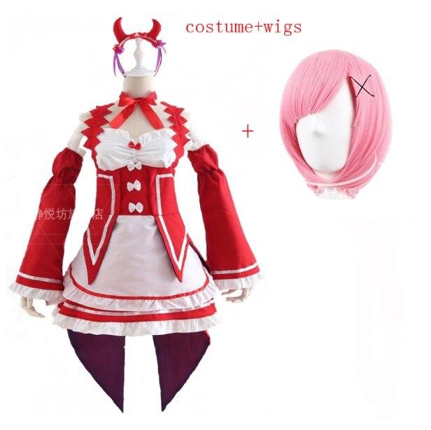 Ram/Rem Косплей Re: zero Hajimeru Isekai Seikatsu черный синий красный костюм горничной платье служанки - Цвет: package 12
