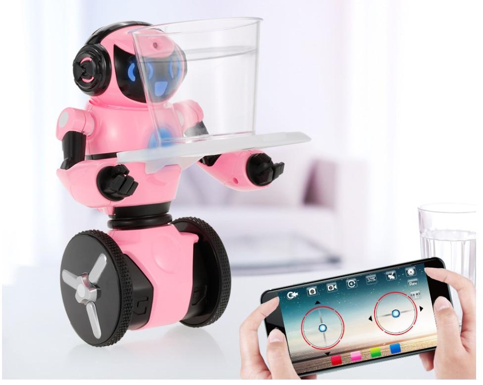 Smart RC Robot F4 0.3MP Camera Intelligent G-sensor Robot High Tech Toys App control MINI Electronic Toys Gift for Children kids wl f1 2 4ghz radio control electric intelligent balance g sensor rc battle robot