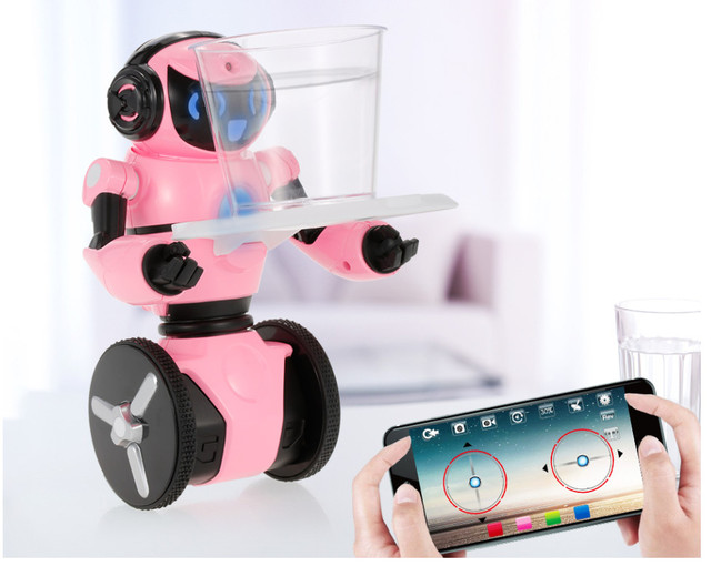 Smart RC Robot F4 0.3MP Camera Intelligent G-sensor Robot High Tech Toys App control MINI Electronic Toys Gift for Children kids