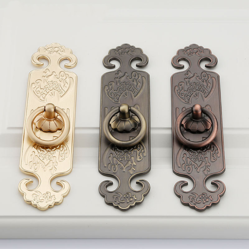 1 Pc Vintage Chinesischen Stil Tür Griff Ring Knob Schublade Ziehen Tür Griffe Für Innentüren Schrank Schrank Möbel Hardware HöChste Bequemlichkeit