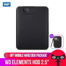 Western Digital WD Elements Portable disque dur externe 500 GB 1 TB 2.5 USB 3.0 disque dur 2 TB 4 TO Originale pour PC ordinateur portable(China)