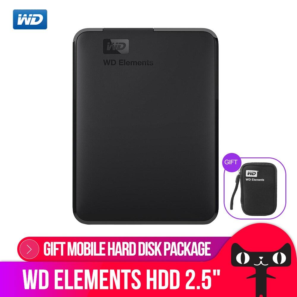 Western Digital WD Elements Портативный внешний жесткий диск 500 Гб 1 ТБ 2,5 USB 3,0 жесткий диск 2 ТБ 4 ТБ оригинальный для портативных ПК