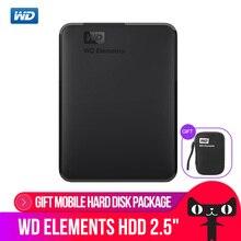WD Western Digital Elements Portable External Hard Drive Disk 500GB 1TB 2TB 3TB 4TB USB 3.0 Original for Computer laptop 500gb