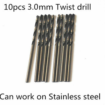 цены  10pcs 3..0mm twist drill  FANGDAWANG high quality 9341 roll forged straight shank HSS drill bits for stainless steel