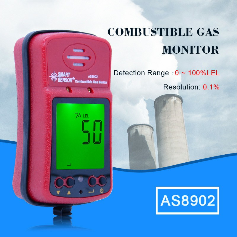 Combustible Gas Detector Portable Gas Leak Detector 0~100%LEL Sound Light Vibration Alarm Air Monitor with Sound Light Alarm bohemia ivele crystal подвесная люстра bohemia ivele crystal 7707 13 pa