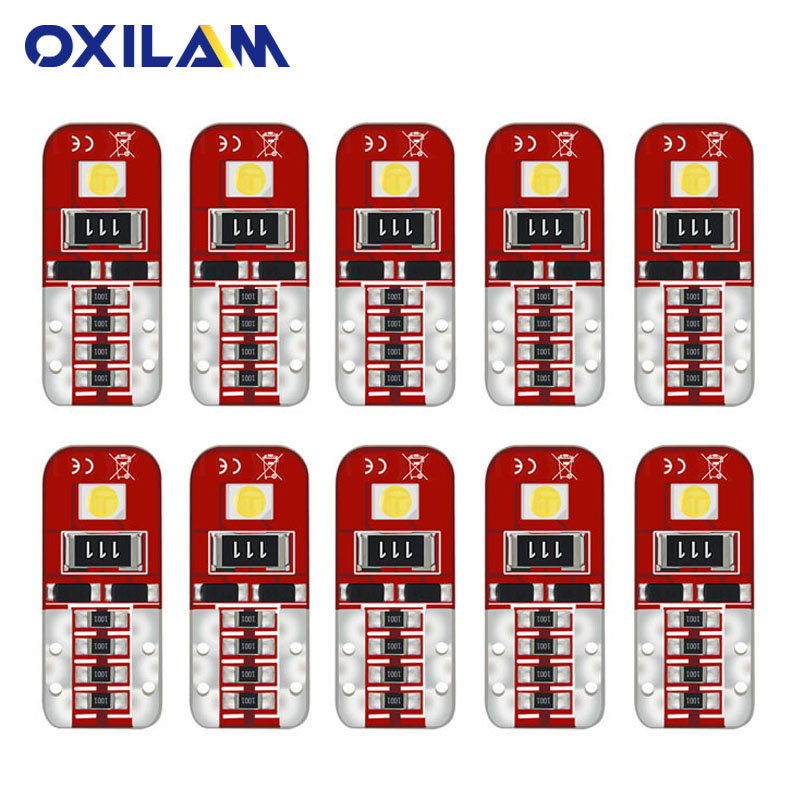 10Pcs Car T10 LED 194 168 W5W Lamp 2835 SMD Auto Interior Light Bulb For Geely Atlas Emgrand Ec7 X7 Mk Cross Ck Gc6 Boyue White