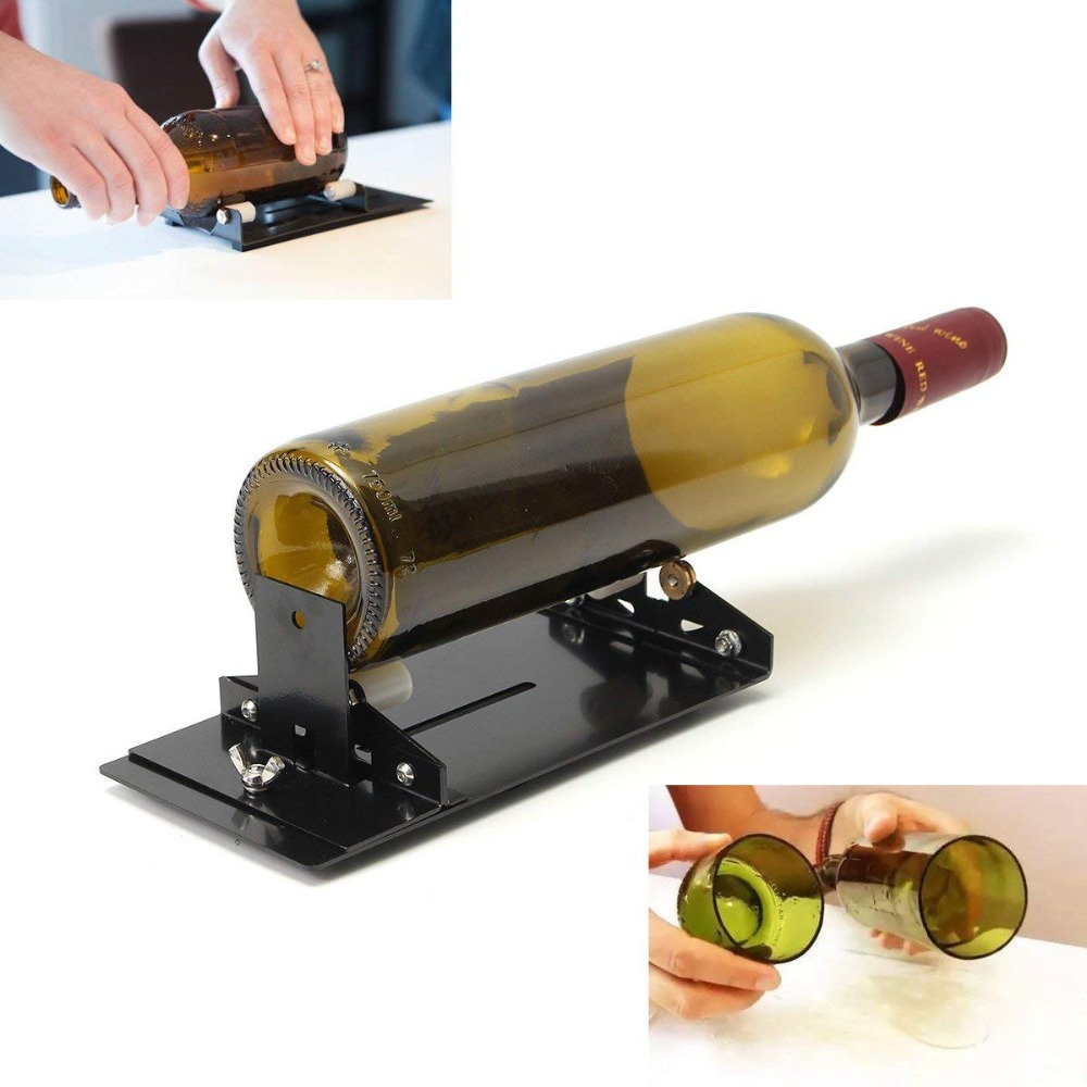 Stainless Iron Glass Bottle Cutter Wine Beer Glass Cutter DIY Glass Bottle Cutting Tool Highly Durable Metal Bottle Cutte