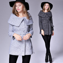2016 New Fashion long Coats Winter Women Jacket Female Blends Woolen Warm Overcoat Femininos Plus Size Ladies Autumn Clothing