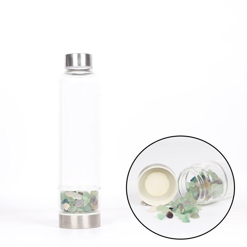 Yaratıcı Ametist Doğal Kuvars Kristal Cam Su şişesi çakıl Düzensiz