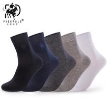 Высокое качество модные 5 пар/лот брендовые PIER POLO повседневные хлопковые носки бизнес мужские носки с вышивкой от производителя