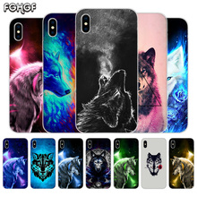 Starry animal wolf Fundas Silicone Phone Back Case For Apple iPhone 6 6S 7 8 Plus X 10 XS MAX XR 5 5S SE Heart Cover
